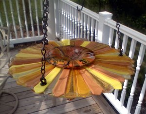 Sunflower birdfeeder