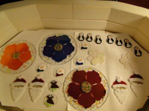 Ornaments and Poppy plates