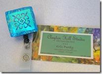 Blue Scroll Badge Reel