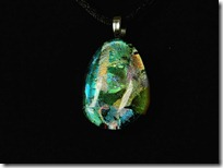 Dichroic 'opal' pendant