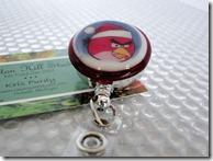 angry bird badge reel