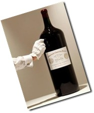 giant bottle of wine