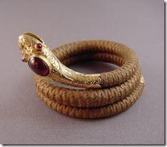 victorian_hair_snake_bracelet