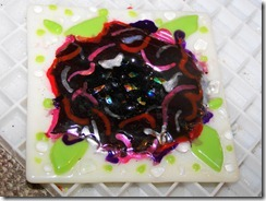 Fused glass flower night light