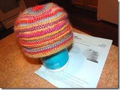 chunky mocha knit hat