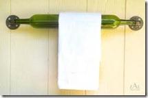 wine bottle towel rack