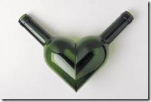 wine bottle heart