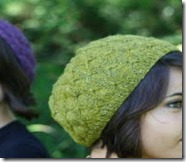 knit butterfly beret
