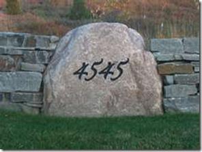 engraved boulder