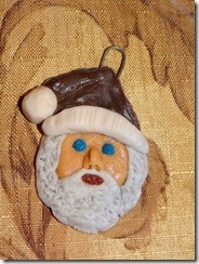 Santa-glass-clay-ornament