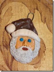 Santa-glass-clay-ornament