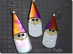 Fused-glass-Santa-ornaments