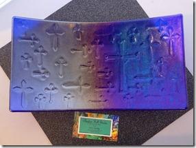 Cobalt Cross Platter