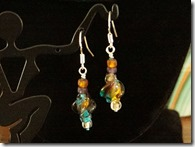 glass twist earrings