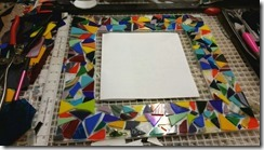 fused glass mirror - WIP