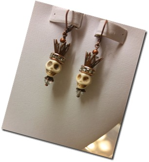 day-of-dead-earring