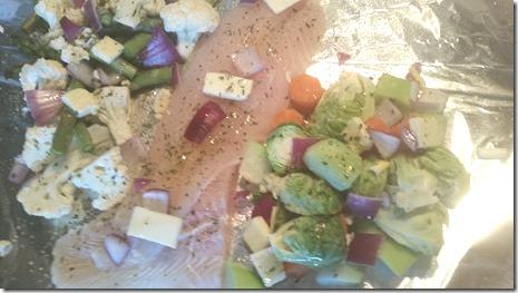 Grilled veggies & lemon pepper Swai
