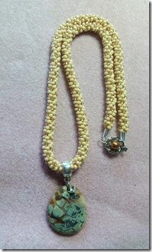 kumihimo glass necklace