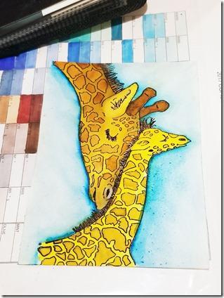 giraffe-colored