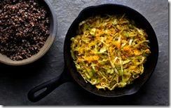 shredded cabbage squash