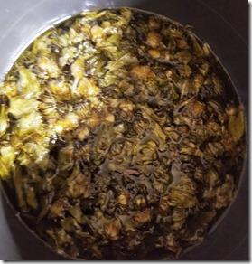 plantain-dandelion-cooking